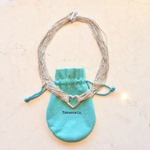 💯 Authentic Tiffany & Co. Openheart Mesh Necklace